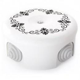 Коробка распаечная Ø90 мм Lindas 33520, цвет орнамент №4 (черный)