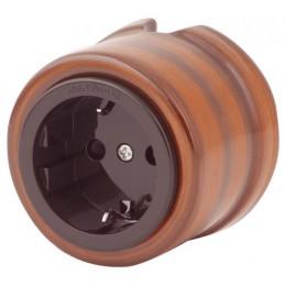 Розетка электрическая Salvador OP12LP, цвет лопачо