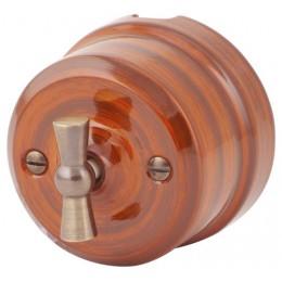 Выключатель 2-х позиционный Lindas 34027, цвет палисандр