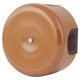Коробка распаечная Ø90 мм Lindas 335-МШ, цвет молочный шоколад