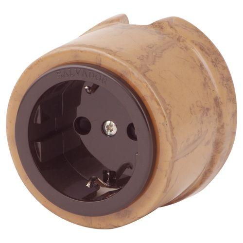 Розетка электрическая Salvador OP12ALM, цвет альпийский мрамор