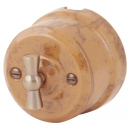 Выключатель   4-х позиционный Lindas 34130, цвет капучино