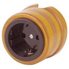 Розетка электрическая Salvador OP12ET, цвет этно