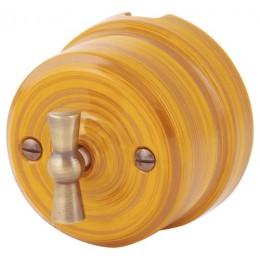 Выключатель 2-х позиционный Lindas 34025, цвет бамбук