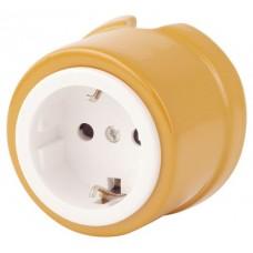 Розетка электрическая Salvador OP12OH, цвет охра