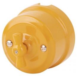 Выключатель 2-х позиционный Lindas 340-ЗО, цвет золотистая охра
