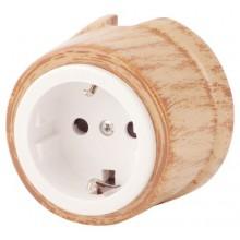 Розетка электрическая Salvador OP12KM, цвет кумару
