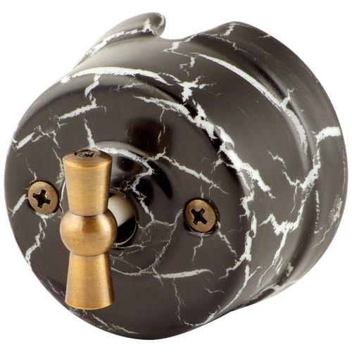 Выключатель перекрестный Salvador OP31BLM, цвет черный мрамор