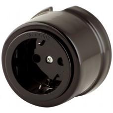 Розетка электрическая Salvador OP12BL, цвет черный