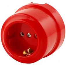 Розетка электрическая Lindas 350-К, цвет красный