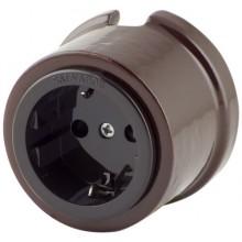 Розетка электрическая Salvador OP12BR, цвет коричневый