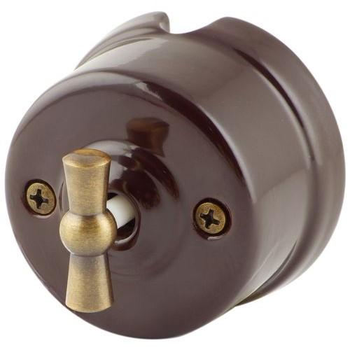 Выключатель   4-х позиционный Salvador OP21BR, цвет коричневый
