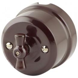 Выключатель 2-х позиционный Lindas 34012, цвет коричневый