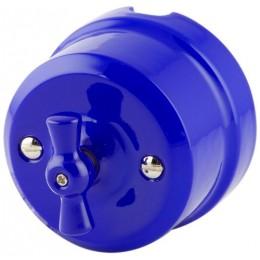 Выключатель 2-х позиционный Lindas 340-С, цвет синий