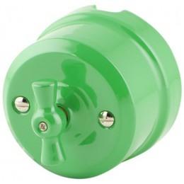 Выключатель 2-х позиционный Lindas 340-З, цвет зеленый