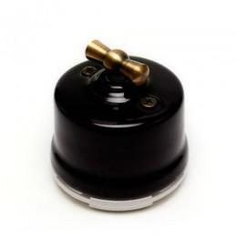 Выключатель 2-х позиционный Salvador OP11BL, цвет черный