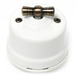 Выключатель перекрестный Salvador OP31WT, цвет белый