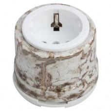 Розетка электрическая Salvador OP12MR, цвет мрамор