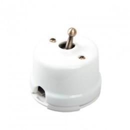 Выключатель тумблерный Salvador OP41WT, цвет белый