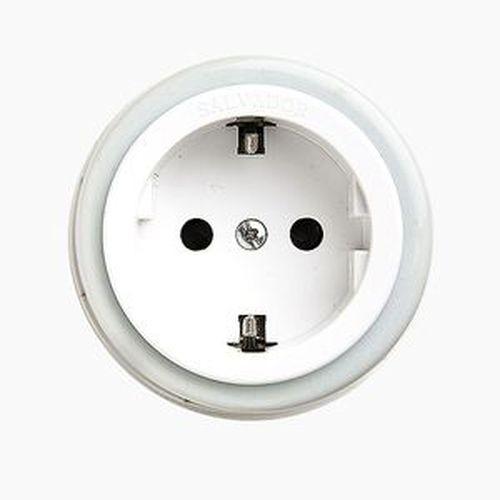 Розетка электрическая Salvador OP12WT, цвет белый