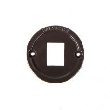 Вставка пластиковая для интернет розеток Salvador 01CL.INT.BR, цвет коричневый