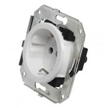 Розетка электрическая Salvador CL12WT, цвет белый