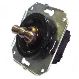 Выключатель 2-х позиционный Salvador CL11BL, цвет черный