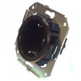 Розетка электрическая Salvador CL12BR, цвет коричневый