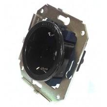 Розетка электрическая Salvador CL12BL, цвет черный