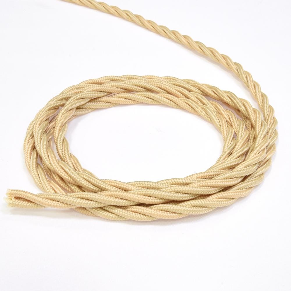 Провод электрический 3х1,5 Lindas 63145, цвет песочное золото