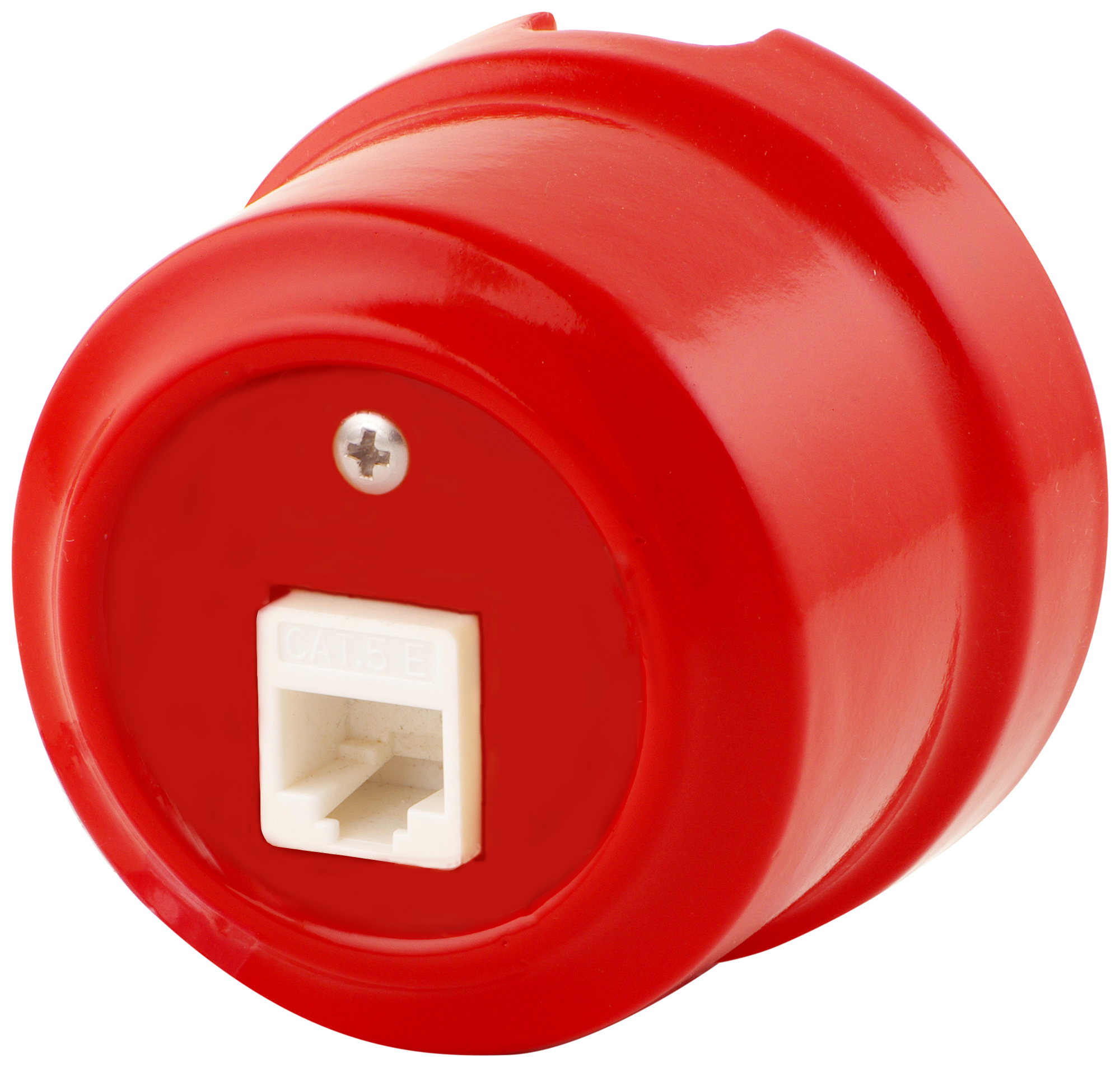 Розетка RJ-45 Lindas 320-К, цвет красный