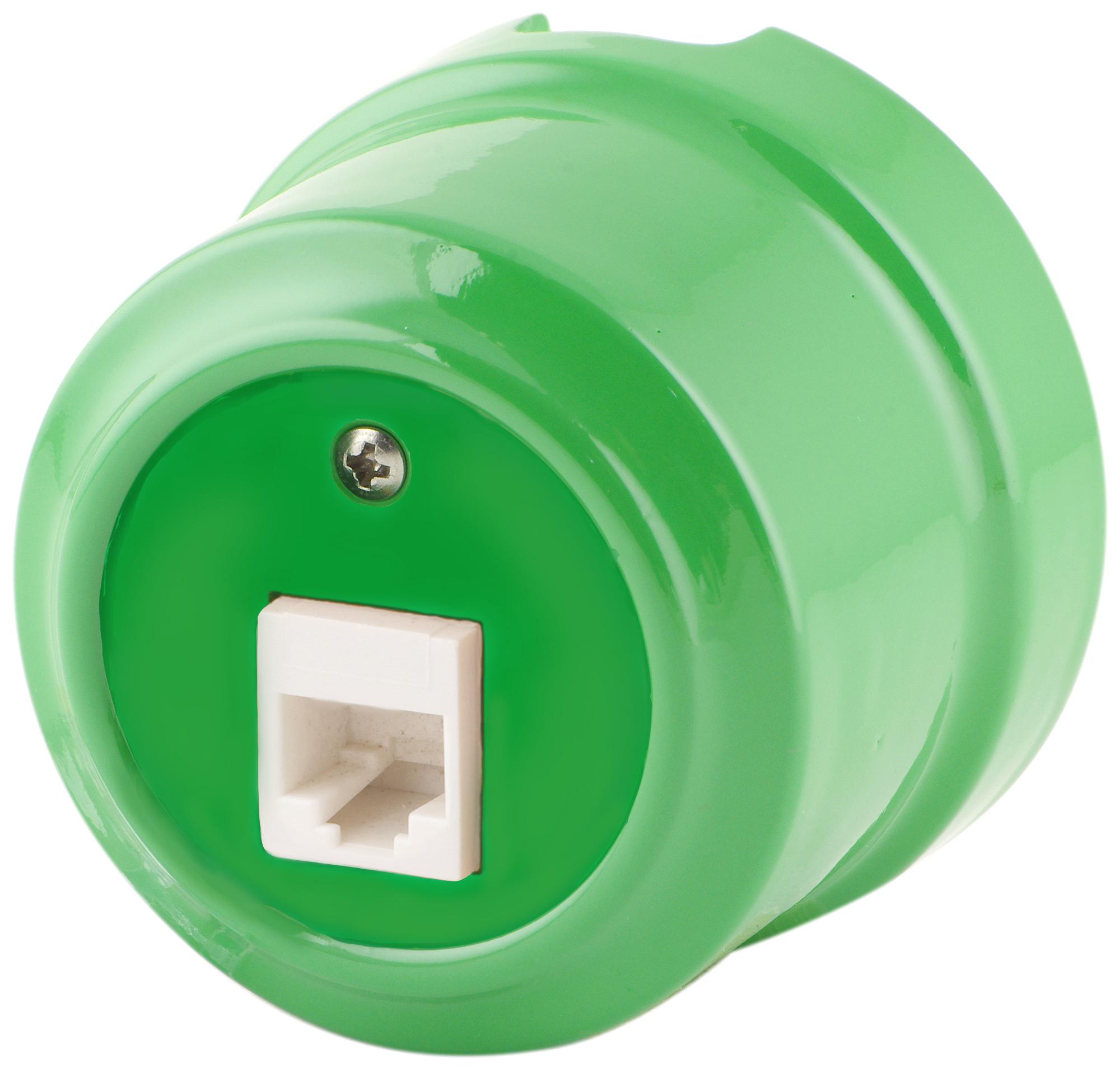 Розетка RJ-45 Lindas 320-З, цвет зеленый
