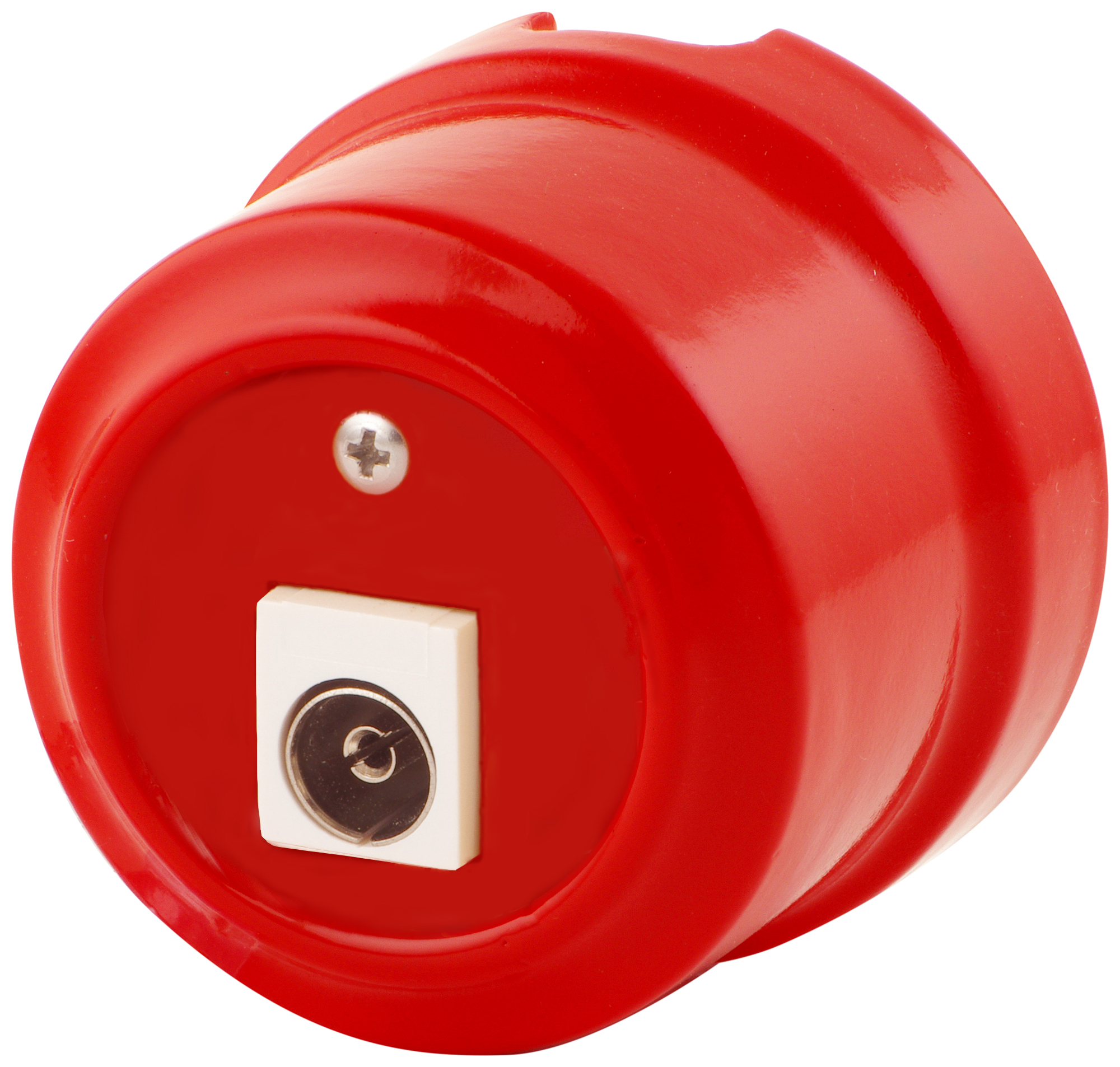Розетка телевизионная Lindas 325-К, цвет красный