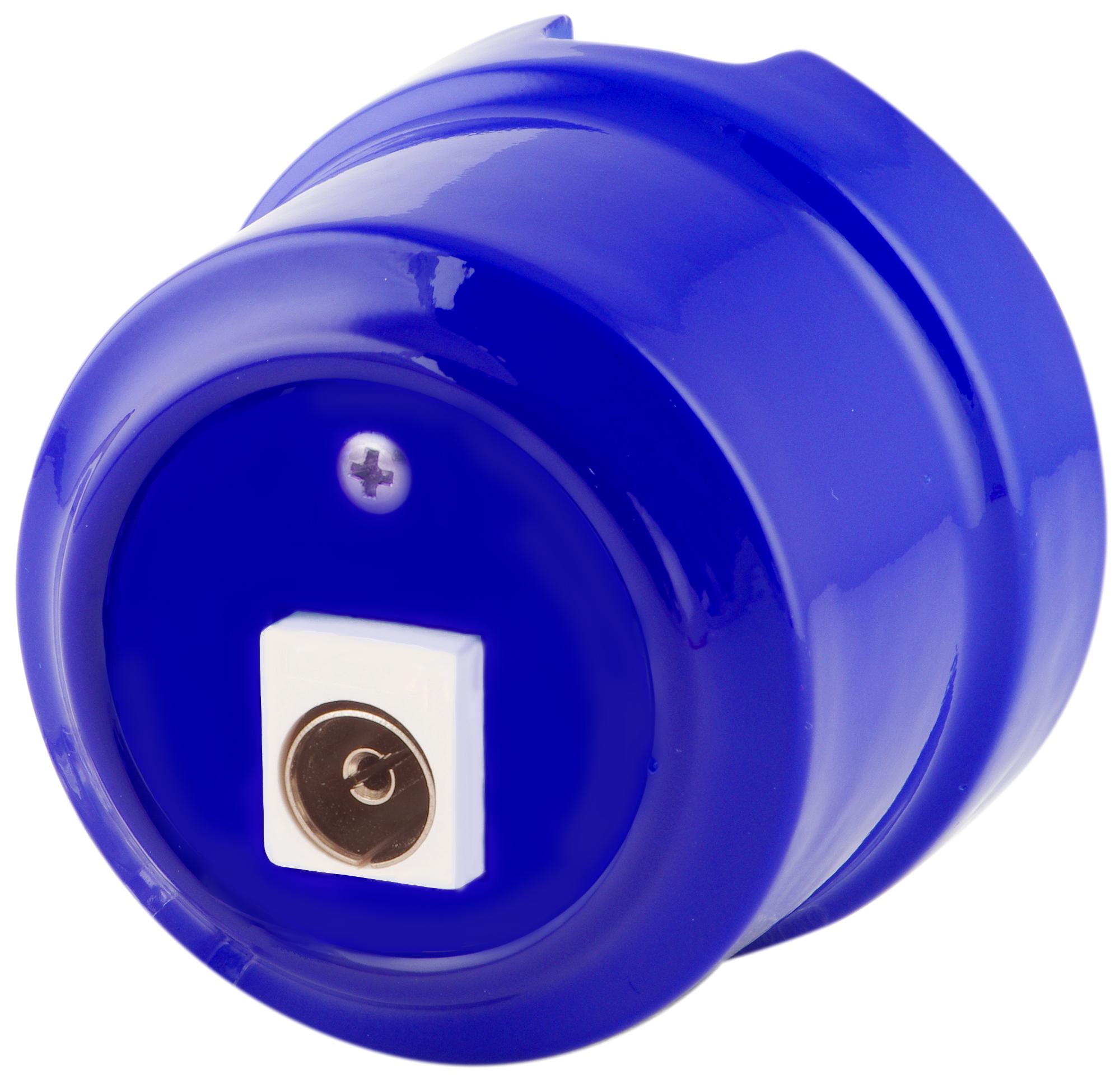 Розетка телевизионная Lindas 325-С, цвет синий