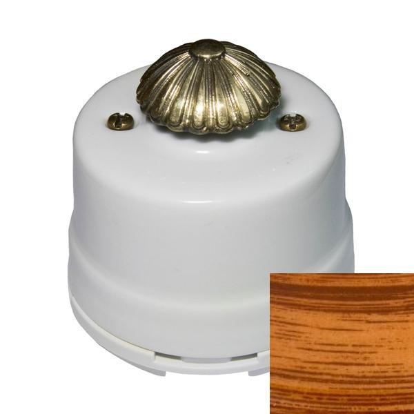 Выключатель диммер Salvador OPDMMB, цвет мербау