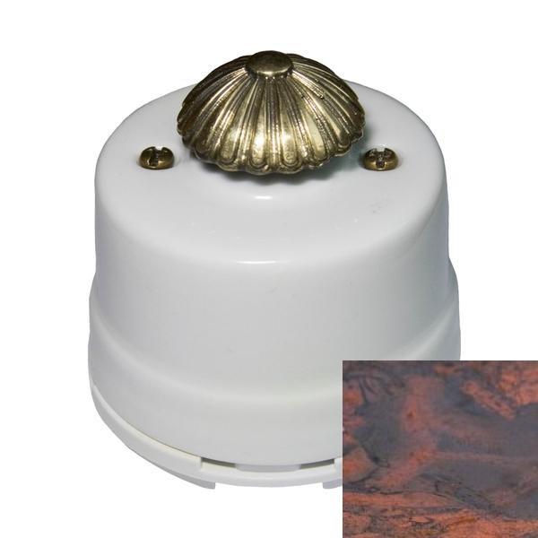 Выключатель диммер Salvador OPDMRSM, цвет мрамор россо
