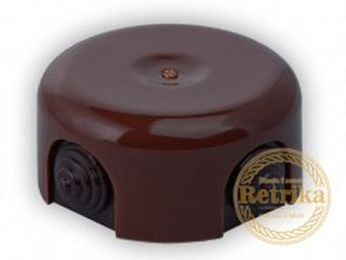 Коробка распаечная Ø90 мм Retrika RR-09002, цвет коричневый