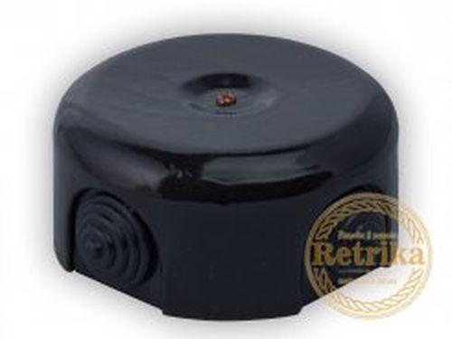 Коробка распаечная Ø90 мм Retrika RR-09008, цвет черный