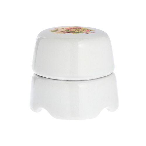 Коробка распаечная Ø60 мм Salvador BOX1AP, цвет белый с узором Яблоня