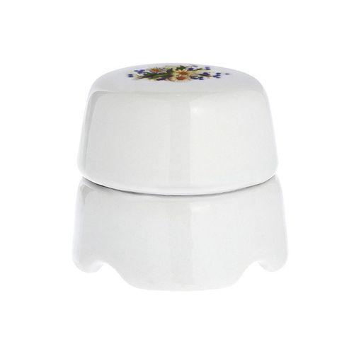 Коробка распаечная Ø60 мм Salvador BOX1RM, цвет белый узор Ромашка