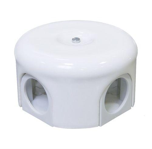 Коробка распаечная Ø78 мм Lindas 33010, цвет белый