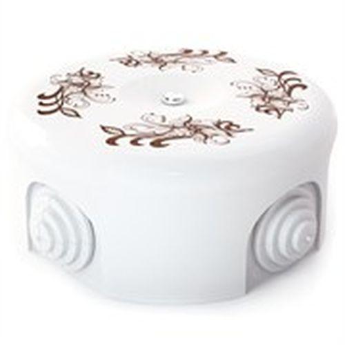 Коробка распаечная Ø78 Lindas 33017, цвет орнамент №1 (коричневый)