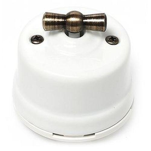 Выключатель 2-х позиционный Salvador OP11WT, цвет белый