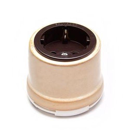 Розетка электрическая Salvador OP12GD, цвет бежевый